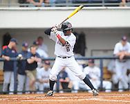 Ole Miss' Errol Robinson (6) bats vs. Arkansas-Pine Bluff at Oxford-University Stadium in Oxford, Miss. on Wednesday, April 2, 2014.