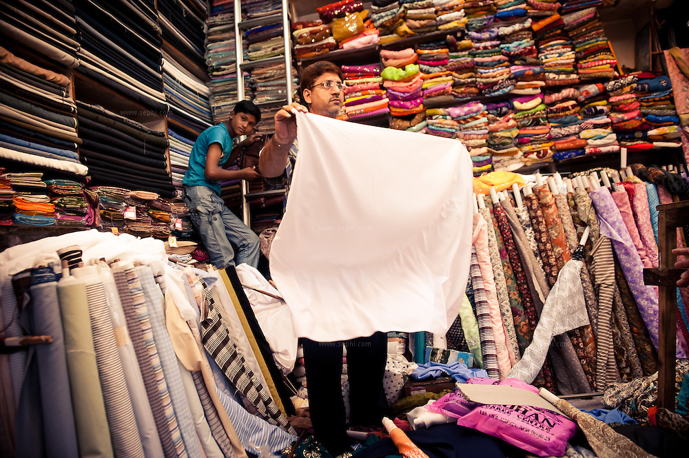 a fabric store at INA market New Delhi