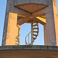 The concrete observation tower in the Shark Valley section of Everglades National Park