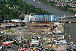 Image &copy;Licensed to i-Images Picture Agency. Aerial views. United Kingdom.<br /> Battersea Power station, London. Picture by i-Images