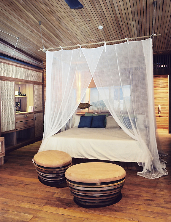 Mock-up room of Six Senses Hideaway Con Dao (under construction).