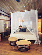 Mock-up room of Six Senses Hideaway Con Dao (under construction).