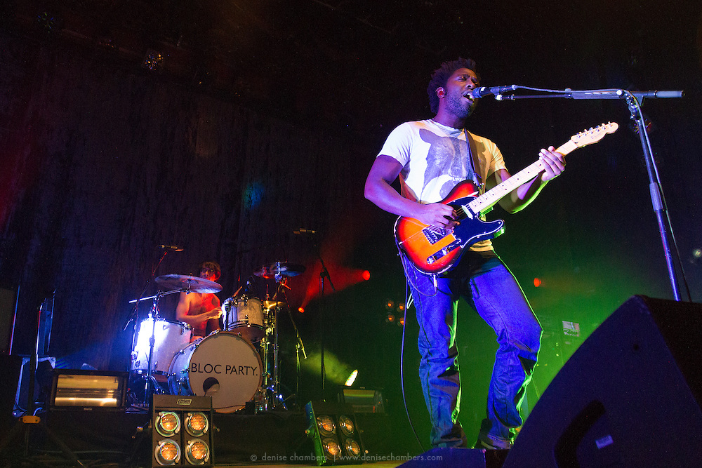 """Kele Okereke of Bloc Party performs on January 22, 2013 in support of """"Four"""" at the Ogden Theater in Denver, Colorado"""