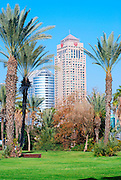 Israel, Ramat Gan, modern High rise building - Sheraton City tower hotel