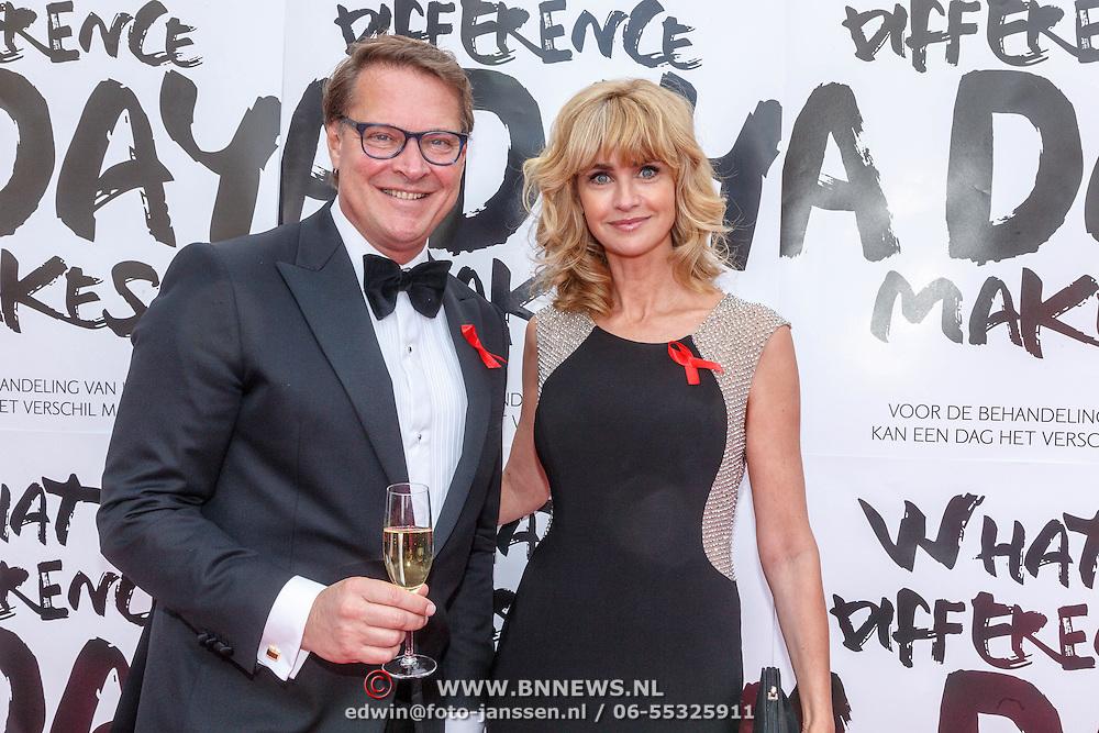 NLD/Amsterdam/20150530 - Amsterdamdiner 2015, Albert Verlinde en Daphne Dekkers
