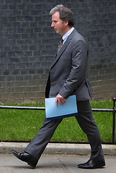 Downing Street, London, May 12th 2015. The all-conservatives Cabinet ministers gather for their first official meeting at Downing Street. PICTURED: Oliver Letwyn, Chancellor of the Duchy of Lancaster