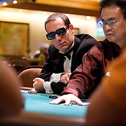 Jonathan Thompson during the tournement at the Mirage poker room, Las Vegas.