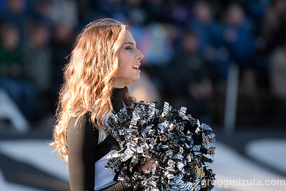 Vale cheerleader Morgan Harrison. Vale - Cascade Christian 3A quarterfinal playoff game at Frank Hawley Stadium, Vale, Oregon, Saturday, November 14, 2015. Vale won 48-38.
