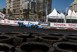 """LONG BEACH, CA - APRIL 17 Simon Pagenaud raced to his first victory for Team Penske by holding off Scott Dixon in the caution-free Grand Prix of Long Beach. """"This is my favorite street course,"""" Pagenaud said. """"To win here, especially in Indy car, given the level of competition, is amazing. The PPG car is good luck on me. Every time I'm in that car, I'm on the podium. I'm glad to represent those guys and glad to represent Chevrolet as well. First win (that he has secured) for Roger (Penske), so check. 2016 April 17. Byline, credit, TV usage, web usage or linkback must read SILVEXPHOTO.COM. Failure to byline correctly will incur double the agreed fee. Tel: +1 714 504 6870."""