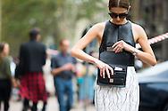 Balenciaga Crackle Skirt, Outside the Gucci Show - detail