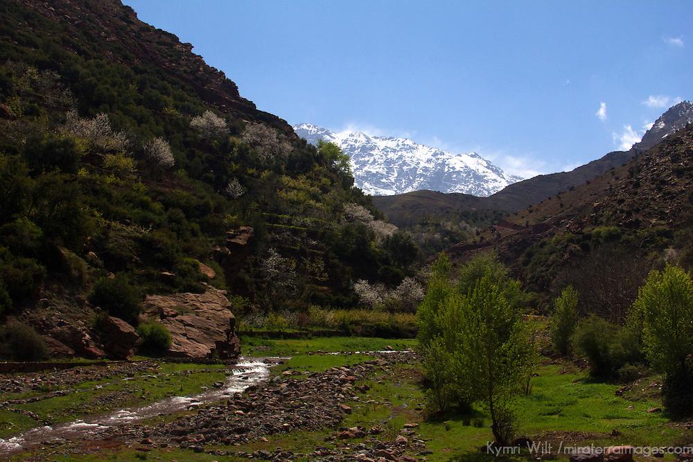 Africa, Morocco, Asni. Toubkal Mountain Scenery.