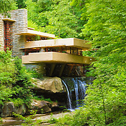 &quot;Fallingwater Painterly 1&quot;<br /> <br /> Lovely digital painting of Fallingwater in summer!