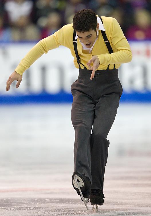 GJR351 -20111028- Mississauga, Ontario,Canada-  Javier Fernandez of Spain skates his short program at Skate Canada International, October 28, 2011.<br /> AFP PHOTO/Geoff Robins