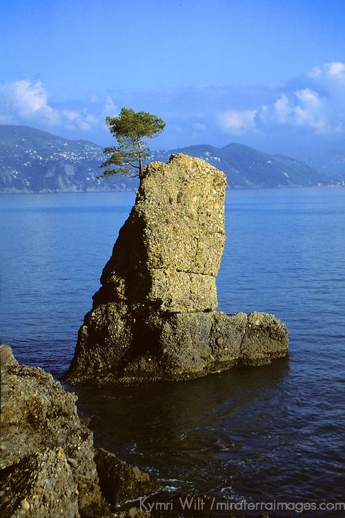 Europe, Italy, Portofino. Scenic life on the Mediterranean coast of Italy.