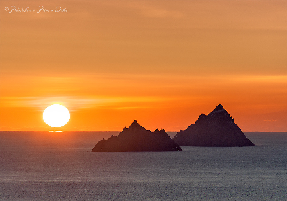 Mystical Skelligs Sunset, County Kerry, Ireland - The Wild Atlantic Way ****** <br /> <br /> Visit &amp; browse through my Photography &amp; Art Gallery, located on the Wild Atlantic Way &amp; Skellig Ring between Waterville and Ballinskelligs (Skellig Coast R567), only 3 minutes from the main Ring of Kerry road.<br /> https://goo.gl/maps/syg6bd3KQtw<br /> <br /> ******<br /> <br /> Contact: 085 7803273 from an Irish mobile phone or +353 85 7803273 from an international mobile phone