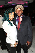 October 12, 2012-New York, NY: Recording Artist Sophie Greene and On-Air Personality Sway Calloway at the Black Girls Rock! Shot Callers Dinner presented by BET Networks and sponsored by Chevy held at Espace on October 12, 2012 in New York City. BLACK GIRLS ROCK! Inc. is 501(c)3 non-profit youth empowerment and mentoring organization founded by DJ Beverly Bond, established to promote the arts for young women of color, as well as to encourage dialogue and analysis of the ways women of color are portrayed in the media. (Terrence Jennings)
