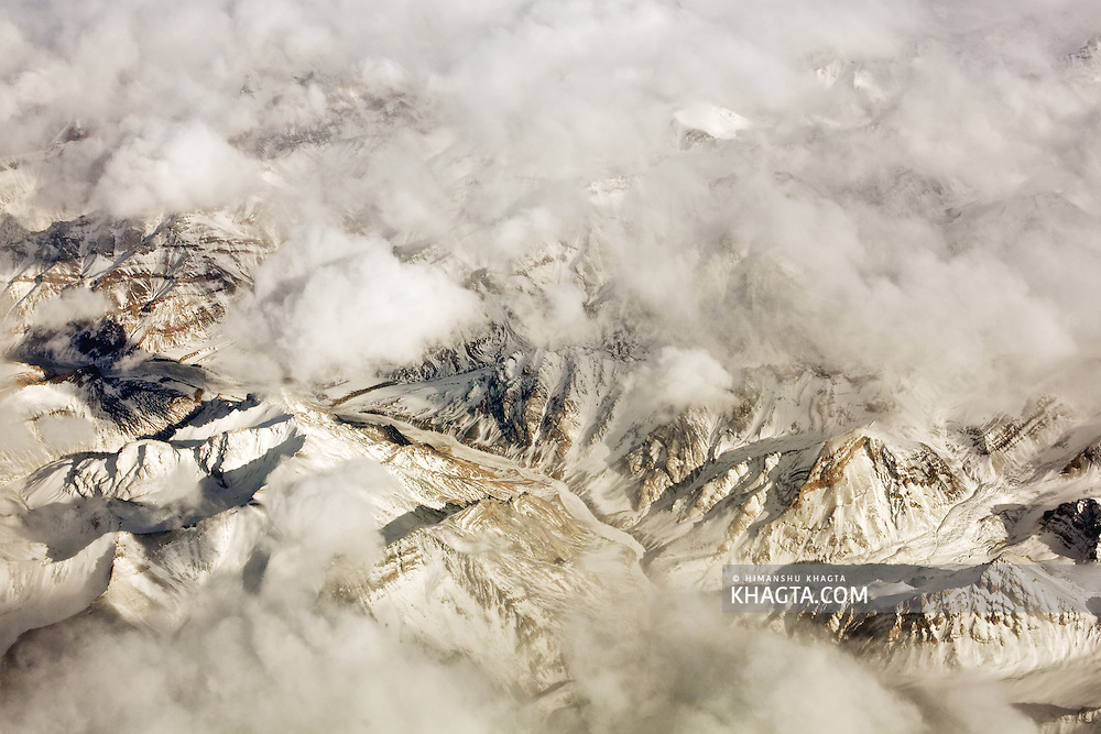 The Great Himalayan Mountain Range at Ladakh in Winters