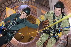 FEB 17 2014 Royal Marines abseil down BT Tower