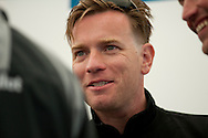 10th August 2011. Cowes. Isle of Wight..Pictures of Ewan Mcgregor The Artemis Challenge prize giving ceremony after the round the Island race during Aberdeen Asset Management Cowes Week 2011...Credit: Lloyd Images.