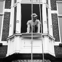 Worker in window - Amsterdam