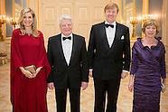 Koning Willem-Alexander en Koningin Maxima bieden maandagavond 6 februari Bondspresident van Duitsla