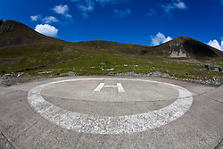 The 'International Sea & Airport Lounge' helipad on Hirta, the largest island of the St Kilda archipelago, west-northwest of North Uist in the North Atlantic Ocean. It is one of Scotland's five World Heritage Sites..©Michael Schofield..