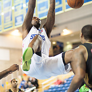 "Delaware 87ers Forward Keith ""Tiny"" Gallon (41) dunks the  ball with authority in the first half of a NBA D-league regular season basketball game between the Delaware 87ers (76ers) and the Erie BayHawks (Knicks) Monday, Jan 13, 2014 at The Bob Carpenter Sports Convocation Center, Newark, DE"