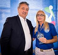 Paolo Barelli Presidente FIN<br /> Alessia Ferri<br /> Premiazione Arbitri<br /> Final Four  Coppa Italia FIN Femminile pallanuoto 2016-17<br /> Centro Federale di Ostia, Roma, ITA<br /> 1 Aprile 2017<br /> &copy;Giorgio Scala / Deepbluemedia