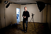 Udacity co-founder Professor Sebastian Thrun poses for a portrait in their Palo Alto, Calif. studio, February 24, 2012.