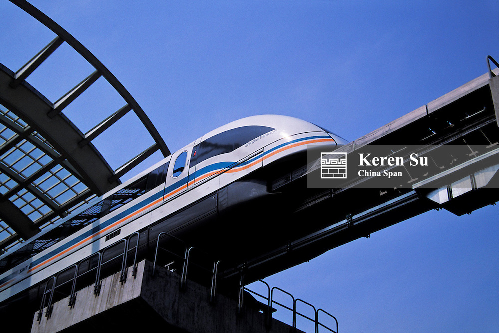 World's first commercial Magnetic Levitation (Maglev) train, Shanghai, China