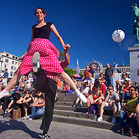 A great dance involves great timing - having fun in 1950s dance at the Bruxelles Summer festival
