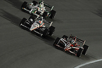 Dario Franchitti, Ryan Briscoe, Tony Kanaan, Cafes do Brasil Indy 300, Homestead Miami Speedway, Homestead, FL USA,10/2/2010