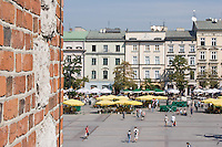 View from the clock tower in Krakow Poland