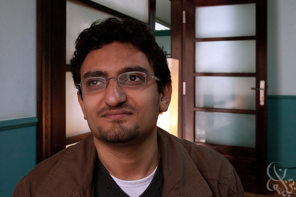 "Egyptian revolutionary activist Wael Ghonim poses for a portrait January 22, 2012 in Cairo, Egypt. Ghonim famously started the initial revolutionary Facebook page calling for widespread demonstrations last year against the rule of then President Hosni Mubarak's regime,  helping lead to the historic 18 day uprising that swept them from power. His new book, ""Revolution 2.0"", is an insiders' account of the revolution and a revealing behind the scenes look at the Egyptian revolutionaries that made it possible.   ."