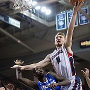 Domantas Sabonis goes up for a layup vs. Memphis on Jan. 31. (Gonzaga photo/Ryan Sullivan)