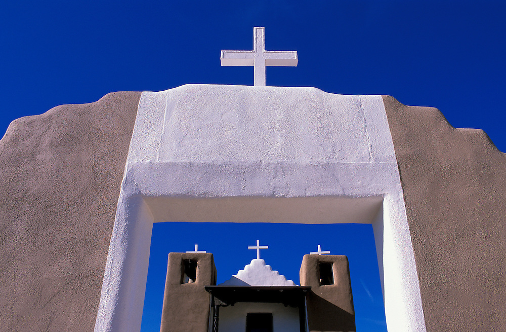 The Church at Taos Pueblo, Taos, New Mexico, USA