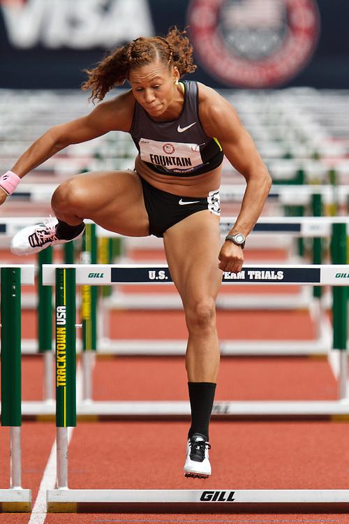 Olympic Trials Eugene 2012: Heptathlon, Hyleas Fountain, overall winner, 100 meter hurdles