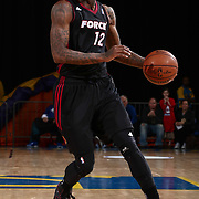 Sioux Falls Skyforce Forward DEANDRE LIGGINS (12) attempts to pass the ball in the first half of a NBA D-league regular season basketball game between the Delaware 87ers and the Sioux Falls Skyforce Friday, Mar. 25, 2016, at The Bob Carpenter Sports Convocation Center in Newark, DEL.