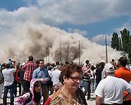 Démolition de la tour DEF du quartier Balzac à Vitry-sur-Seine