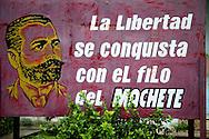 Revolutionary sign in Antilla, Holguin, Cuba.