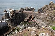 Ruined cofferdam north of Portpatrick
