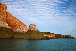 """""""The Sisters"""", a rock formation near Talbot Bay on the Kimberley coast."""
