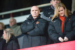 Dundee United&rsquo;s chairman Stevie Thomson in the stand before the game. <br /> Dundee 2 v 1  Dundee United, SPFL Ladbrokes Premiership game played 2/1/2016 at Dens Park.