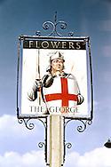 Pub Signs, The George, Tunbridge Wells, Kent, Britain