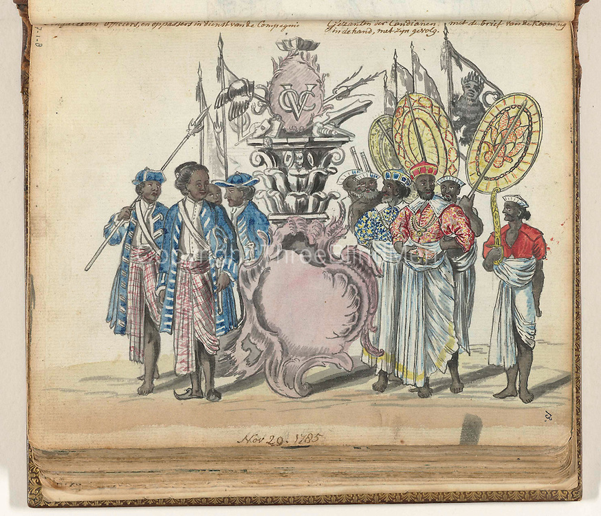 VOC emblem and Ceylon.<br />