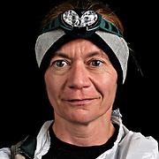 Portrait of ultra marathon runnerJoanne Fenninger from Lancaster, KY, moments after completing the Grind Stone 100 Mile ultra marathon in Swoope, VA, Friday, Oct. 04, 2008...Fenninger completed the race in 34 hours, 12 minutes and 58 seconds. ..The Grindstone is the hardest 100 mile race east of the 100th meridian. ....