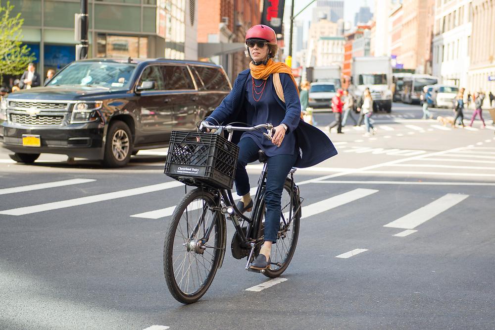 Woman on a Bike, May 2017 NYC