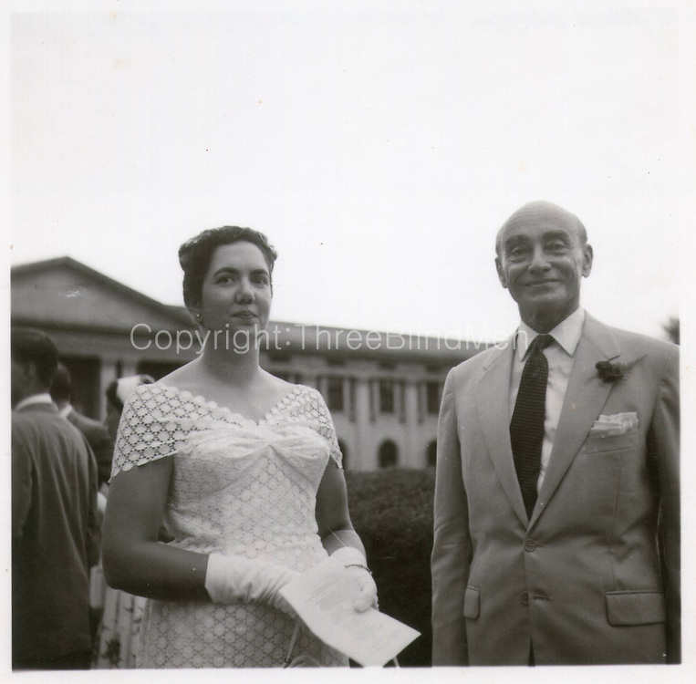 Hildon & Barbara Sansoni. Hildon gave away Jean at her wedding to his nephew, Brian Fernando. 1958. St. Thomas' College Chapel. Mount Lavinia.