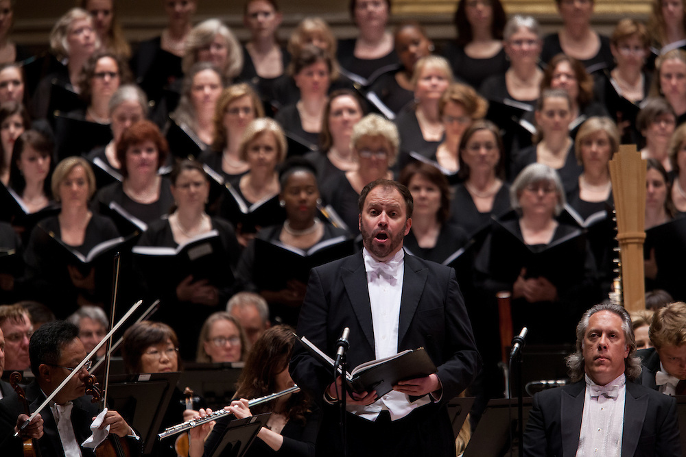 Tenor Thomas Cooley, conducted by Music Director Robert Spano and the Atlanta Symphony Orchestra and Chorus performing Britten's War of Requiem at Carnegie Hall in New York, NY on April 30, 2014.
