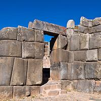 Ancient Sacsayhuaman , Incan ruins outside of Cusco Peru